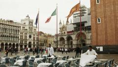 0313 Venice, Italy. St. Mark's Square. 0313 Stock Footage