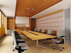 Office Conference Room - stock illustration