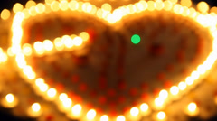 CANDLE LIGHT HEART Stock Footage