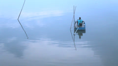 Fishermen boating relax , HD. Stock Footage