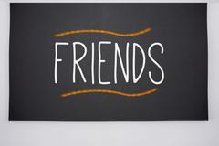 Friends written on big blackboard Piirros