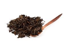 Aromatic green dry tea Stock Photos