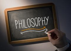 Hand writing Philosophy on chalkboard - stock photo