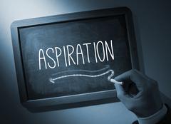 Hand writing Aspiration on chalkboard - stock photo