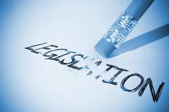 Pencil erasing the word Legislation - stock photo