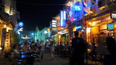 Melaka Malacca Unesco Chinatown Jonker Walk Bar scene Malaysia Asia - stock footage