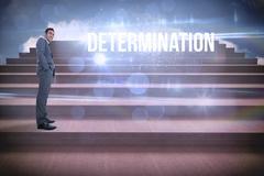 Stock Illustration of Determination against steps against blue sky