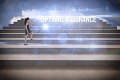 Stock Illustration of Optimal assurance against steps against blue sky