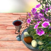 Juutalainen juhlia Pesach pääsiäistä munia Kuvituskuvat
