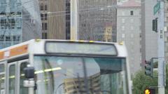 City bus on Howard Street Stock Footage