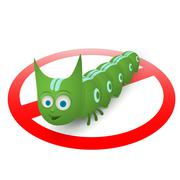 Green caterpillar pest runner Stock Illustration