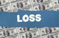 Stock Illustration of Loss against digitally generated sheet of dollar bills
