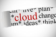 Stock Illustration of Cloud against white background with vignette