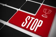 Stock Illustration of Stop on black keyboard with red key