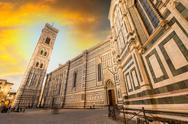 Stock Photo of renaissance cathedral santa maria del fiore in florence, italy