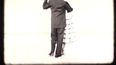 Vintage 16mm dancing instruction, break apart Stock Footage