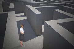 Composite image of thinking businesswoman Stock Illustration
