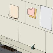 Litter on street Stock Illustration