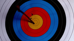 Arrow shooting at the target Stock Footage