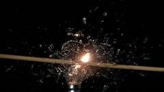 Arrow shooting through light bulb Stock Footage