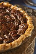 homemade delicious pecan pie - stock photo