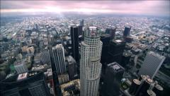 Ariel Red Epic Dragon US BANK building DTLA 11mm Stock Footage