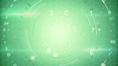 green abstract techno loopable background - stock footage
