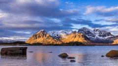 Coastline of the Lofoten Stock Footage