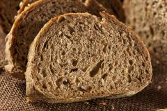 Fresh homemade whole wheat bread Stock Photos