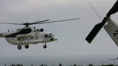 Lebanon United Nations Mil Mi8 take off Stock Footage