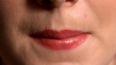 Close up of lips pouting - stock footage