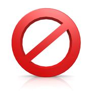 No entry sign Stock Illustration