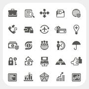 Business and finance icons set Stock Illustration