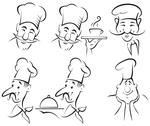 Stock Illustration of chef cook - set