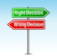 vector decisions arrows sign - stock illustration