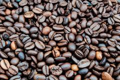 Roasted coffee in bulk - stock photo