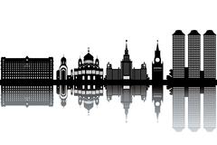 Moscow skyline Stock Illustration