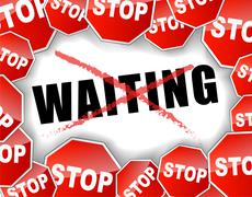 Stop waiting Stock Illustration