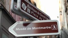 Museum Montmartre Paris pointer - stock footage