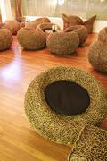 bamboo chairs - stock photo
