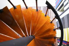 Colorful curved staircase Stock Photos