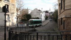 Streets of Paris - Montmartre Stock Footage