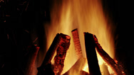 Stock Video Footage of Roaring fire at night