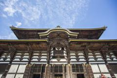 todai-ji temple. nara. japan - stock photo