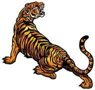 Vihainen tiikeri Piirros