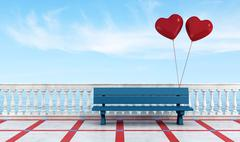 bench of lovers - stock illustration