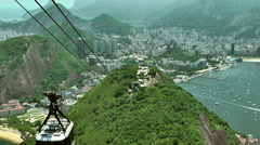 View from  Sugar mountain, Brazil Stock Footage