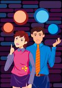 Young Couple Stock Illustration