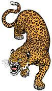 Leopard tattoo Stock Illustration