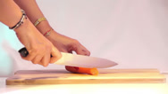 Cutting Carrot 02 Stock Footage